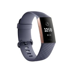 Фитнес-браслет Fitbit Charge 3 Rose Gold/Blue Gray (FB409RGGY)